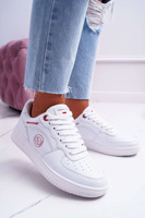 Trampki Damskie Cross Jeans Białe EE2R4143C | Bugo.pl > buty