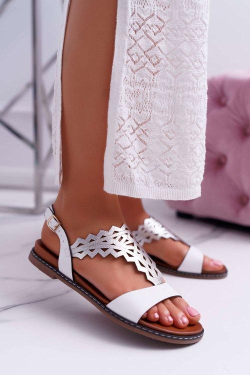 Sandały sk014 biały, Sergio leone, 37 40