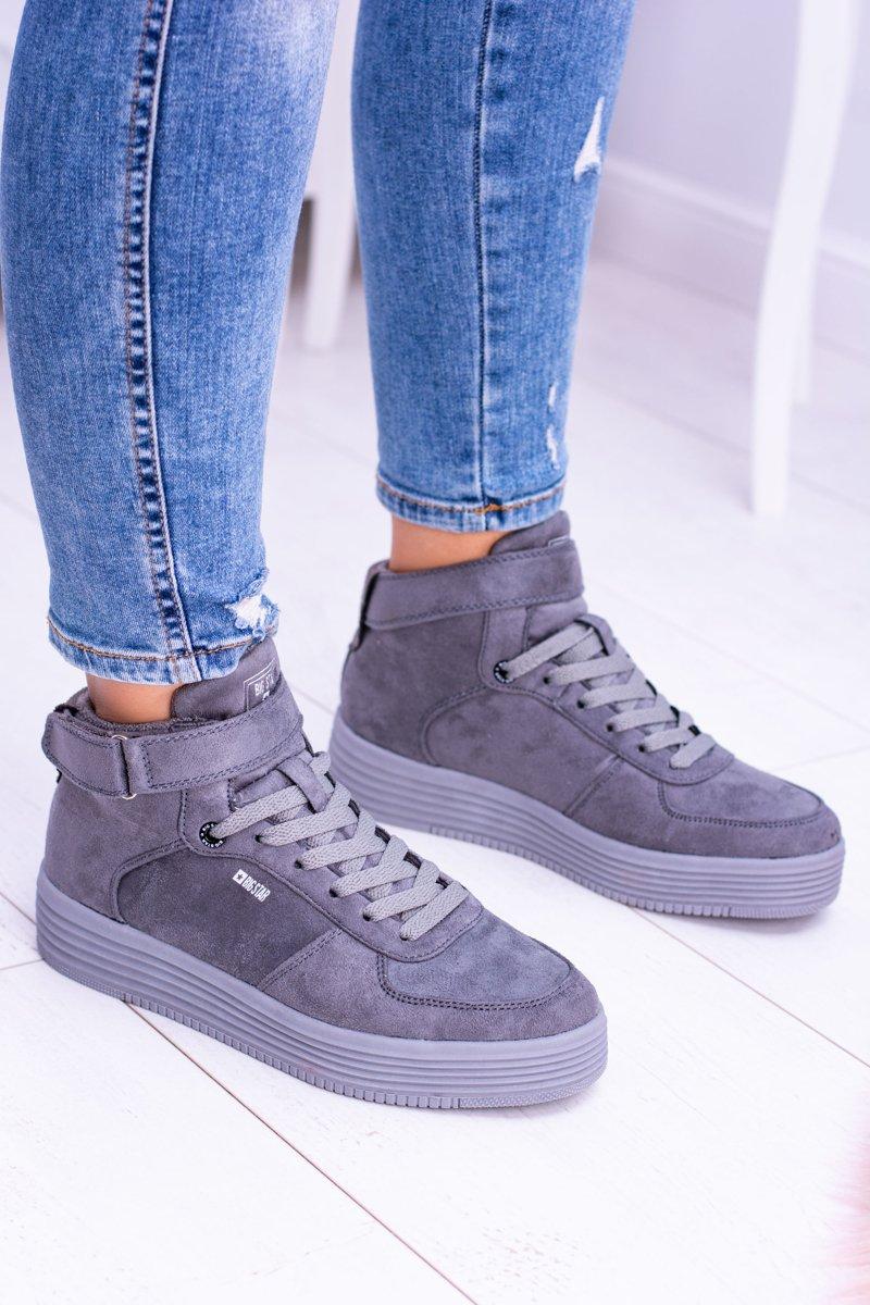 Big Star Szare Sneakersy Trampki BB274645 | Bugo.pl > buty
