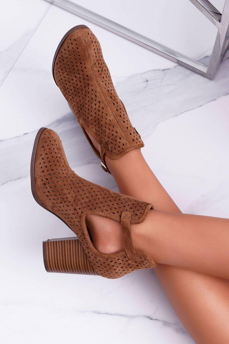 buty damskie ażurowe na obcasie