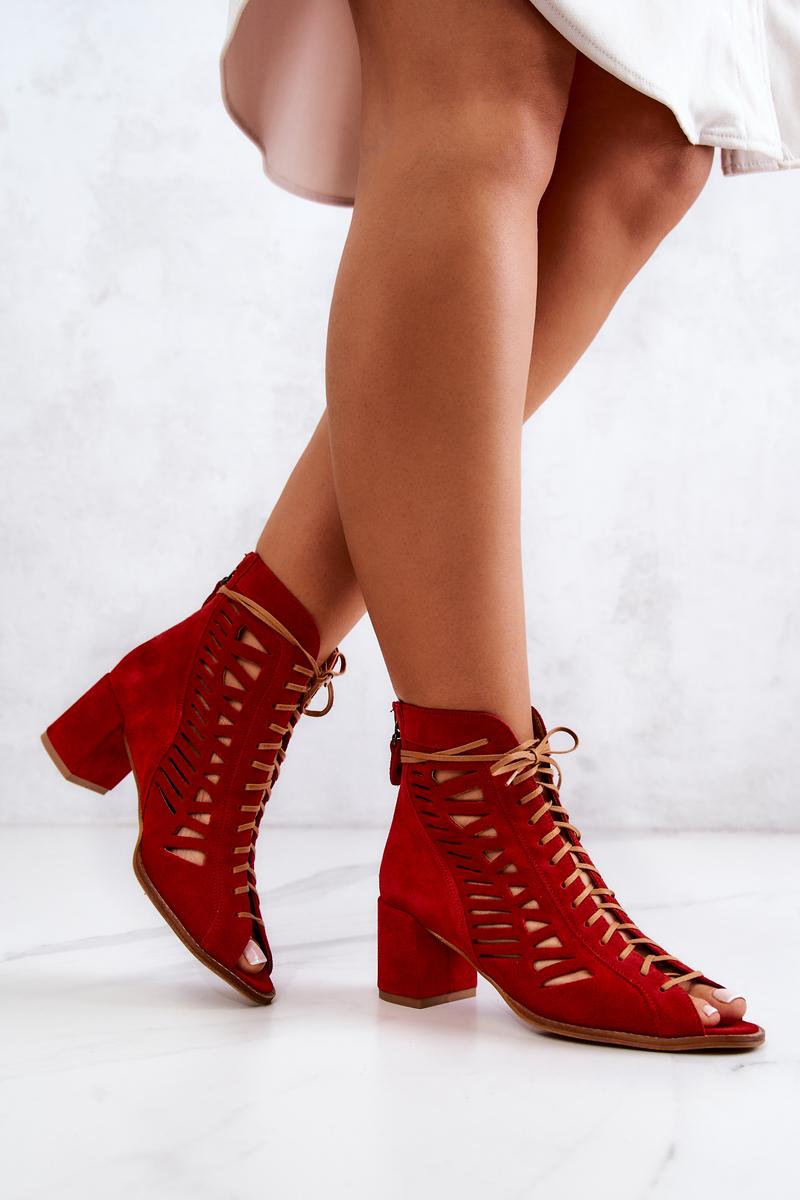 maciejka botki damskie czerwone