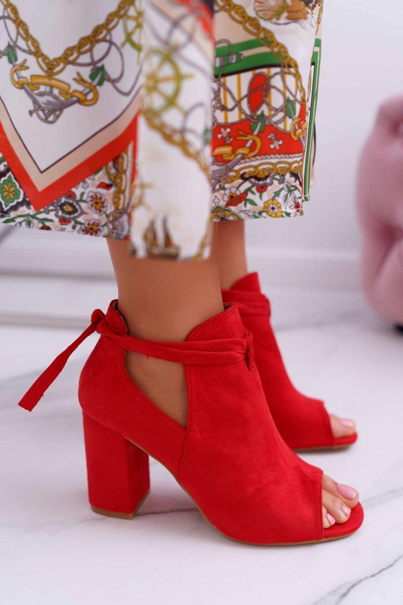 4b5a63f6 Czerwone Botki Sandały Na Słupku Odkryte Palce Grays | Bugo.pl ...