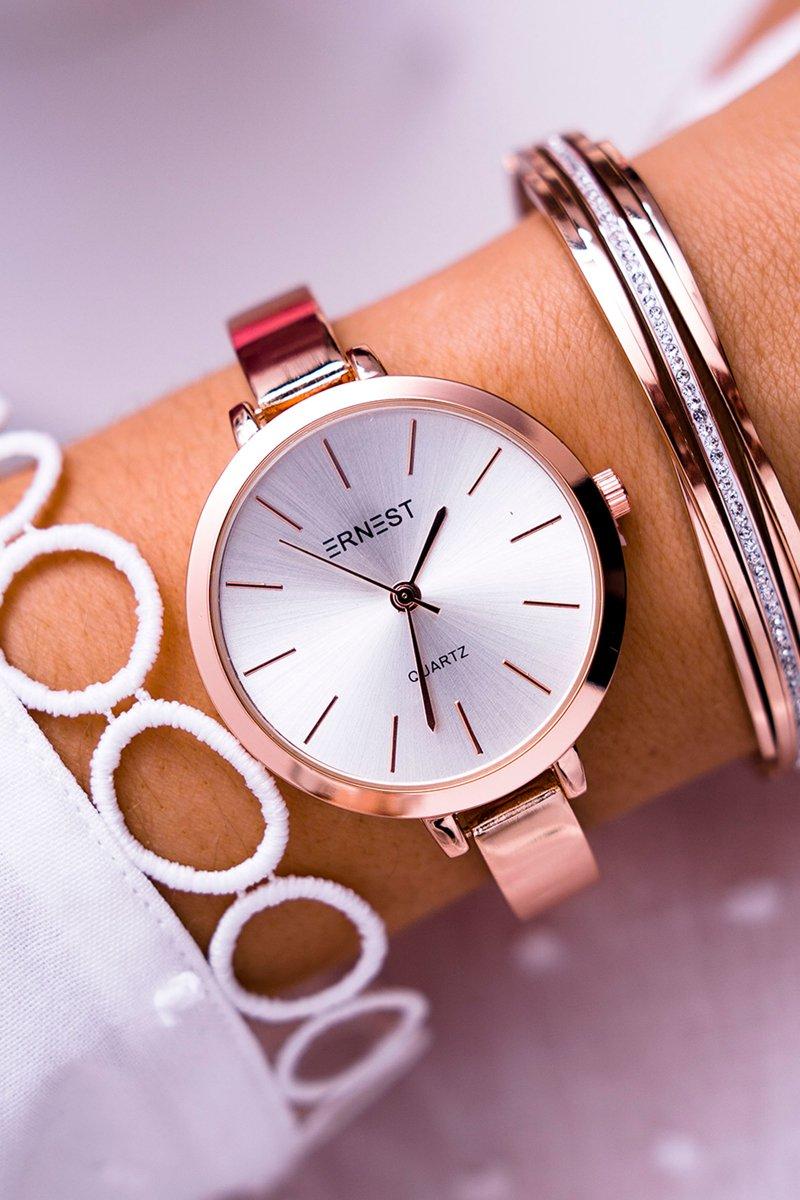 33cf8249177e54 Damski Zegarek Ernest Różowe Złoto Kalama | Bugo.pl > buty damskie