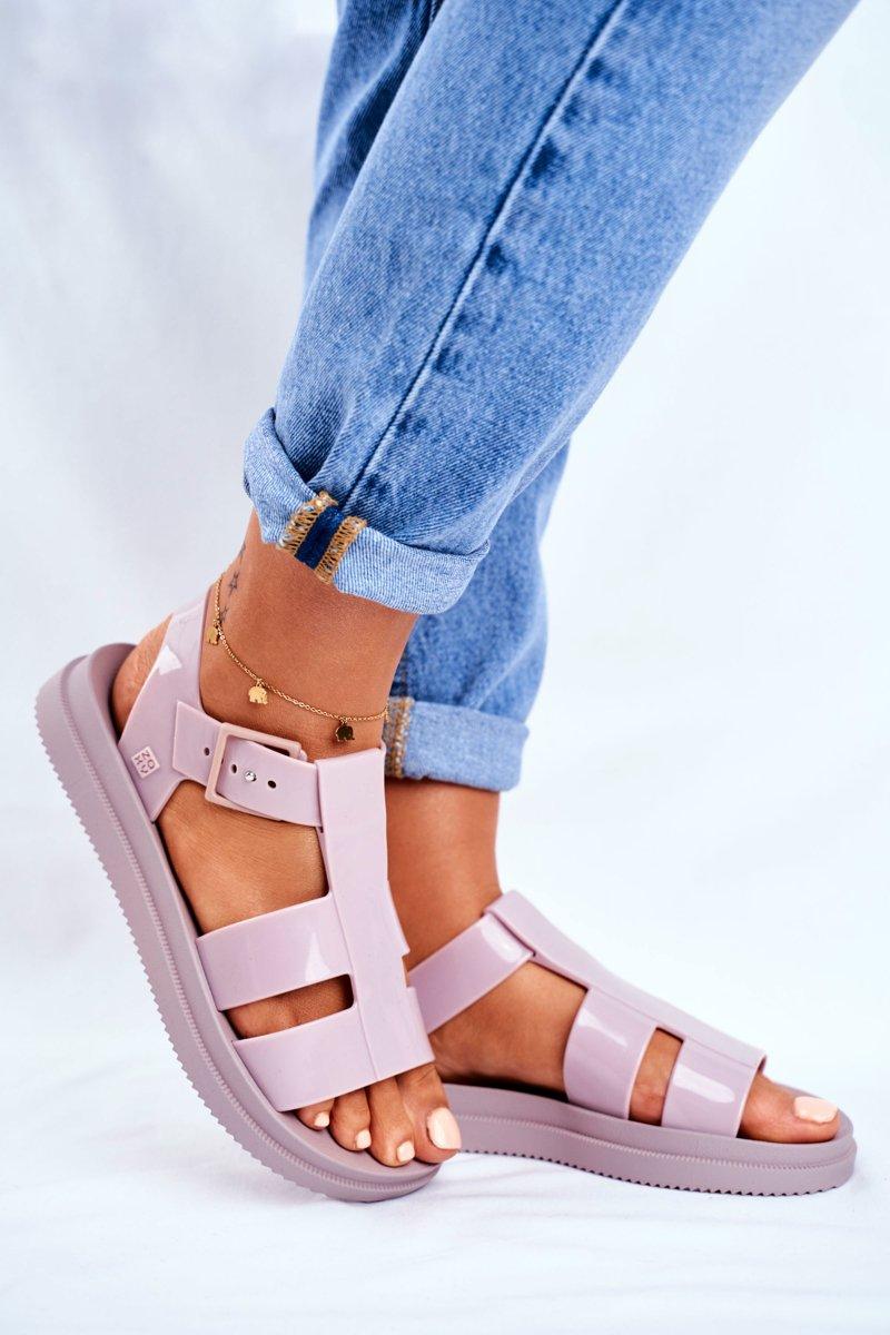 Damskie Sandały Pachnące Gumowe ZAXY Beżowe FF285025 | Bugo