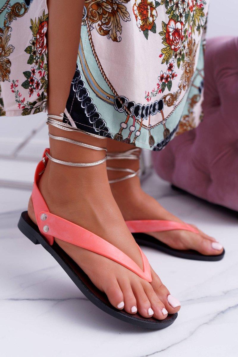 5a1513d366655 Lu Boo Neonowe Wiązane Sandały Japonki Meliski Florence   Bugo.pl ...
