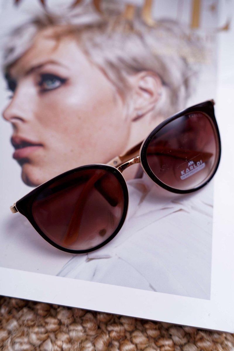 Okulary Przeciwsłoneczne Prius KRE 08 Brązowo Beżowe