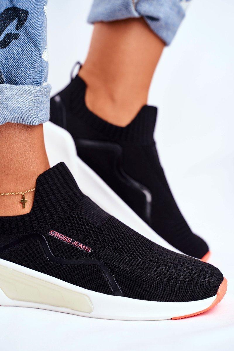 Sportowe Damskie Buty Cross Jeans Czarne Ff2r4116c Bugo Pl Buty Damskie