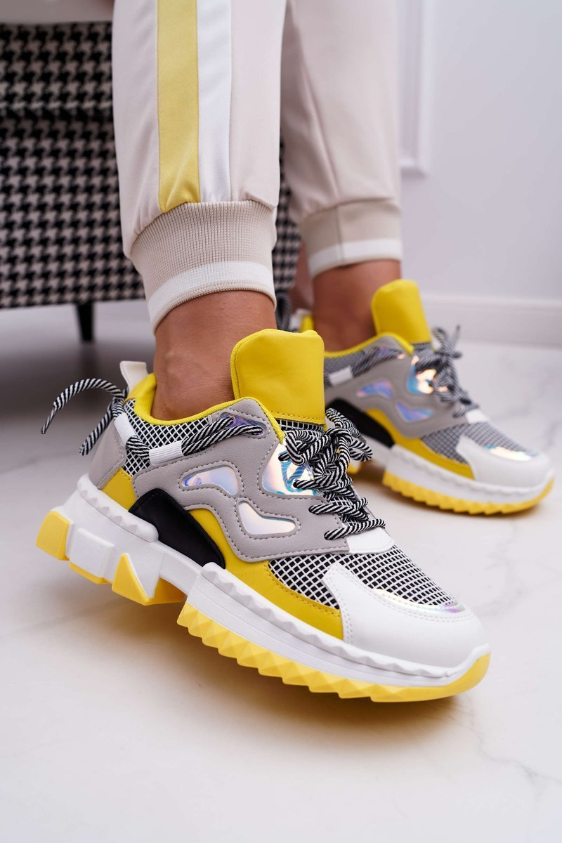 Sportowe Damskie Buty Kolorowe Wstawki Zolte Colored Bugo Pl Buty Damskie