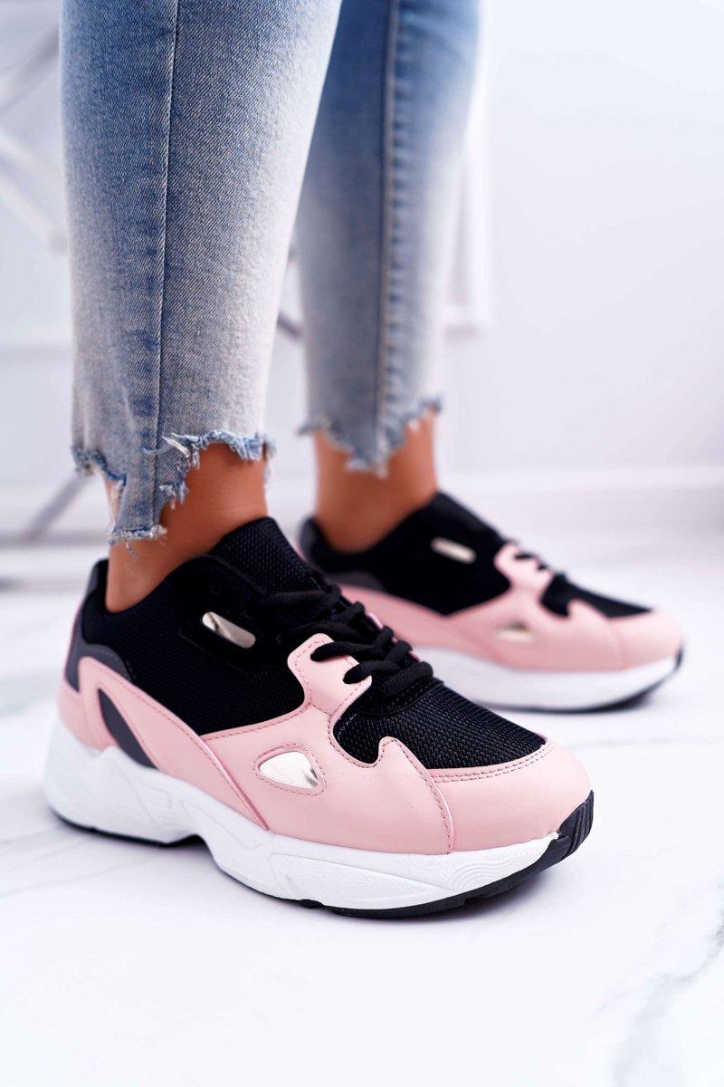 Sportowe Damskie Buty Różowe Szantal   Bugo.pl > buty damskie