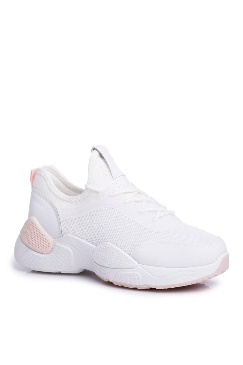 Sportowe Damskie Buty Różowo Białe Fellen   Bugo.pl > buty