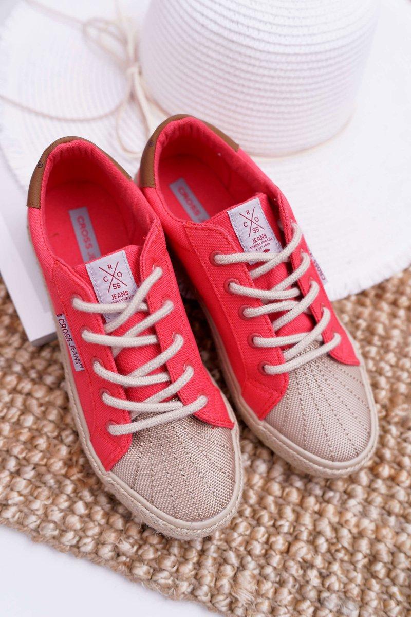 Trampki Damskie Cross Jeans Różowe DD2R4096 | Bugo.pl > buty