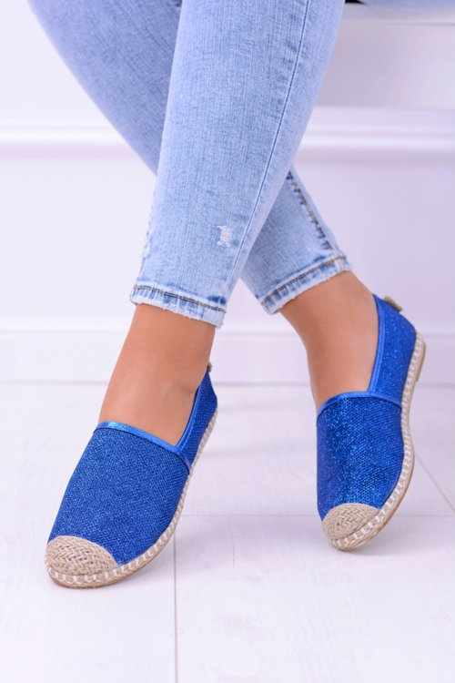 Lu Boo Chabrowe Damskie Espadryle Slip On Brokat Miravet